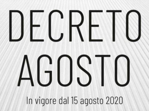 """Webinar di approfondimento GRATUITO – """"Il Decreto Agosto – d. l. 104/2020"""""""
